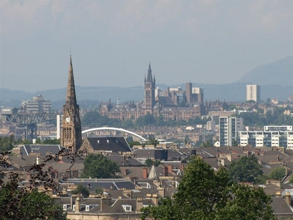 View of Glasgow from Queens Park Dow bin hire.