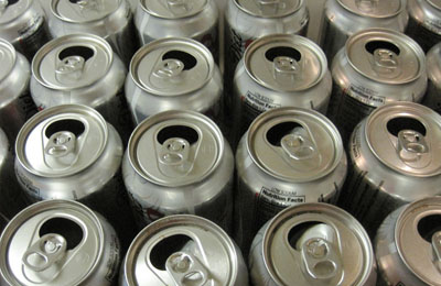 Aluminium cans are recycled by Glasgow recycling firm Dow
