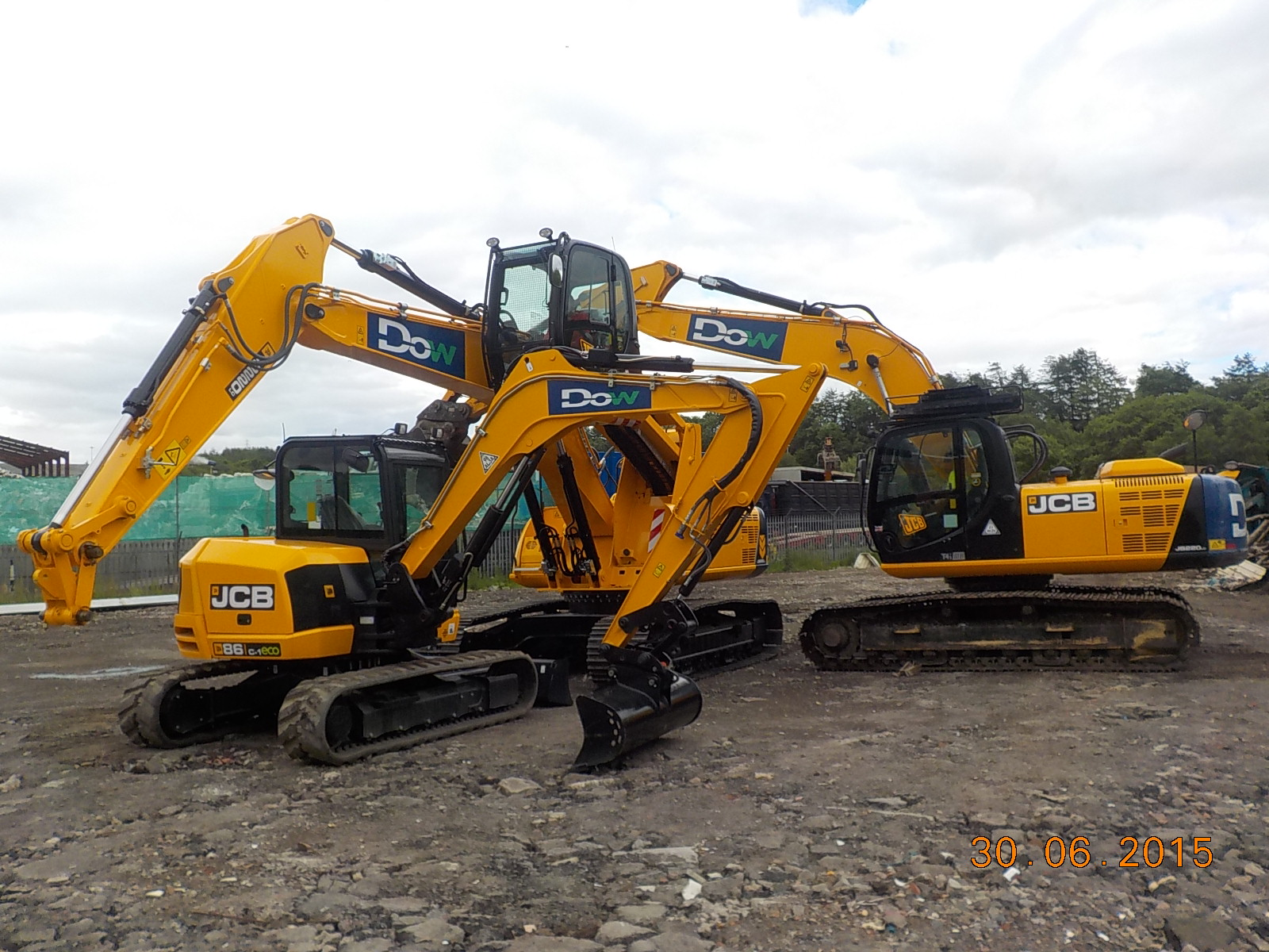 JCB diggers owned by Dow Civil Engineering