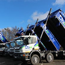 One of Dow's eight-strong tipper hire fleet based near Glasgow.